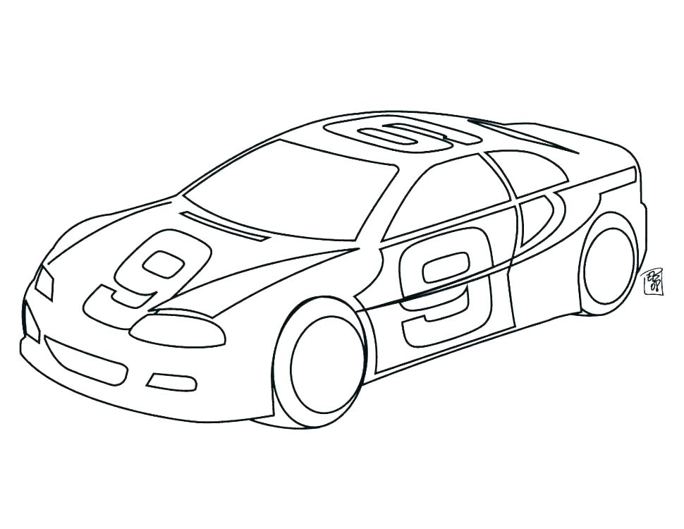 Race Car Driver Coloring Pages