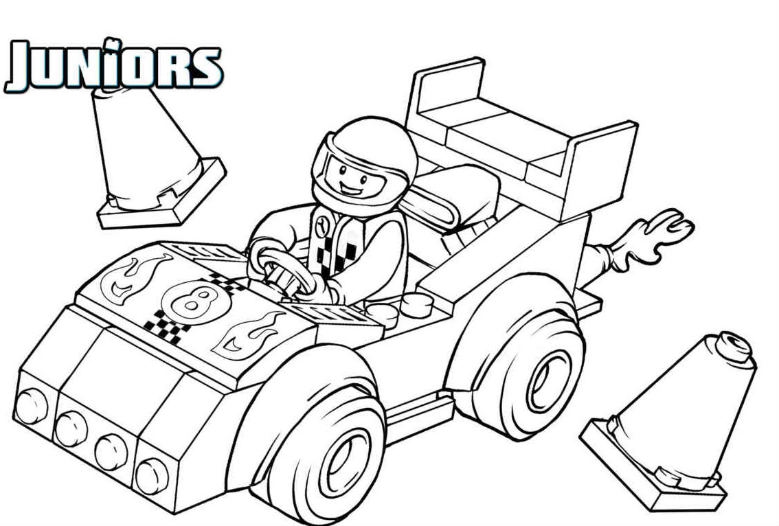 1134x766 Lego Driving A Race Car Lego Coloring Pages