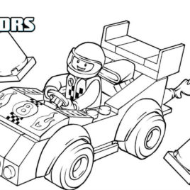 268x268 Lego Driving A Race Car Coloring Pages For Kids