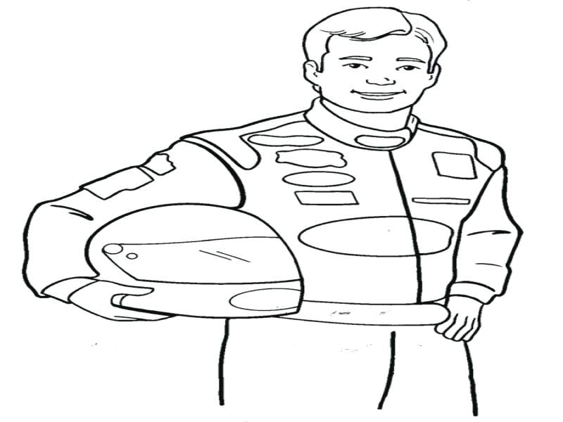 800x600 Nascar Coloring Pages Nascar Coloring Page Race Car Driver