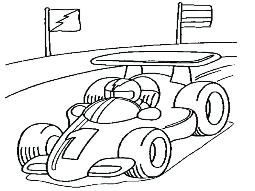 878x659 Racecar Coloring Page Coloring Race Car Coloring Page For Kids
