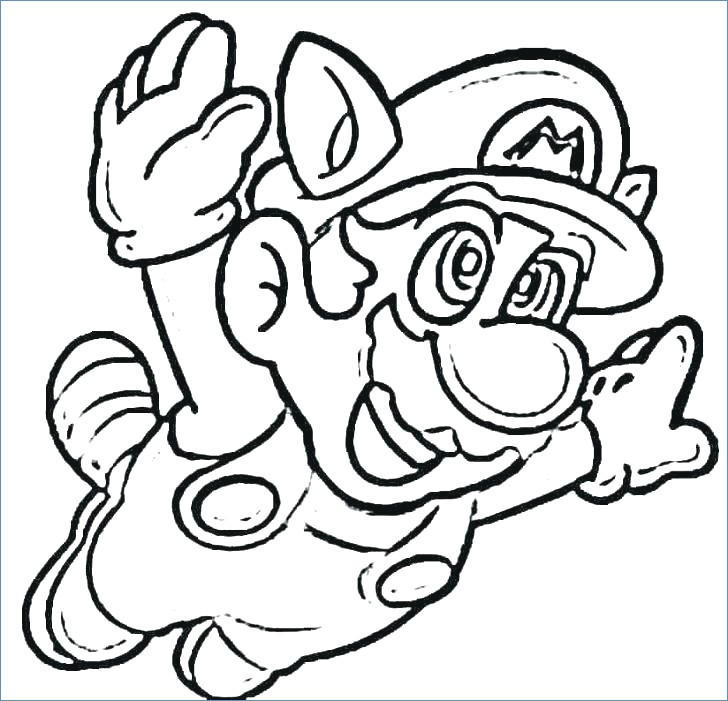 728x701 Mario Racing Coloring Pages