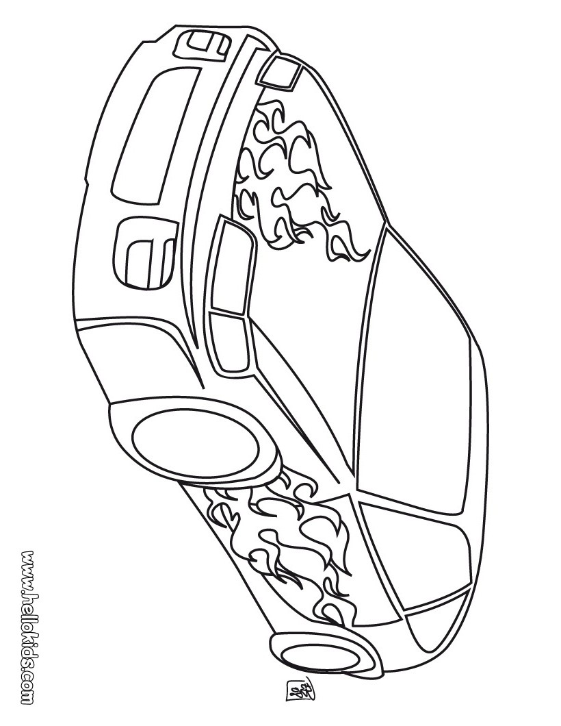 820x1060 Racing Car Coloring Pages