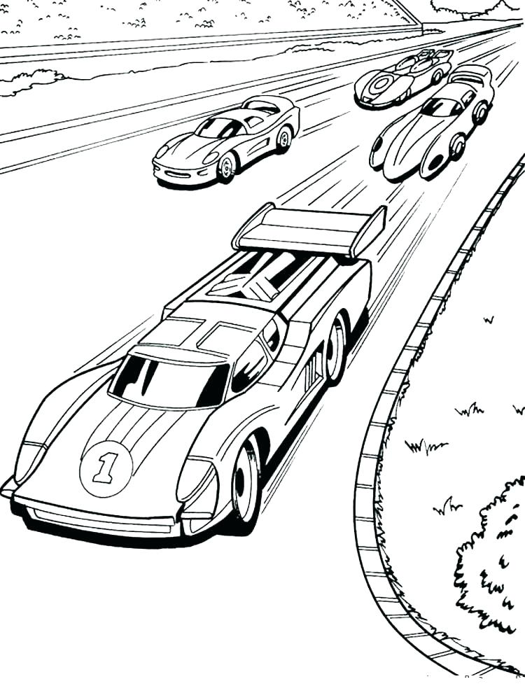 750x1000 Stock Car Racing Coloring Pages Hot Wheels Printable Sheets