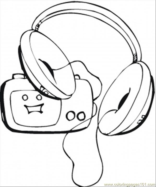 650x781 Loud Music On Radio Coloring Page