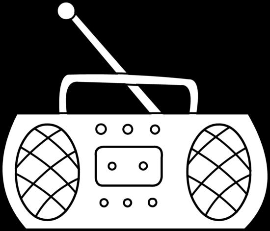 550x471 Radio Coloring Page