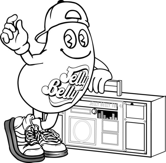 650x641 Coloring Page Jelly Belly Candy Company