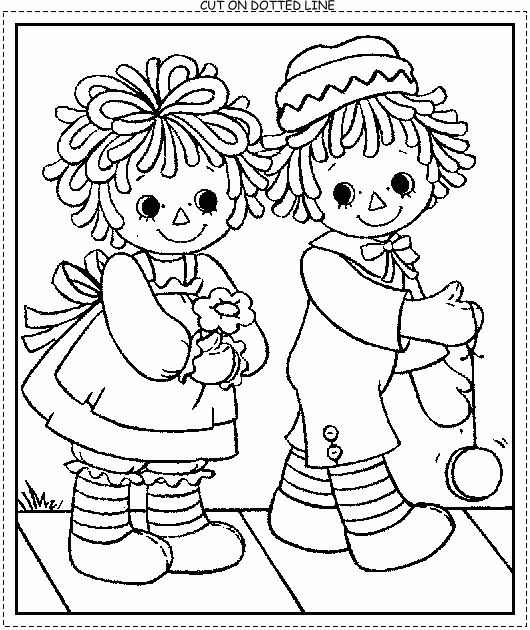 Rag Doll Coloring Page