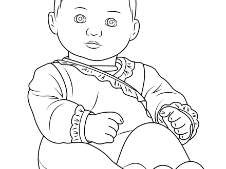 440x330 Free Online Printable Kids Colouring Pages Rag Doll, Dolls