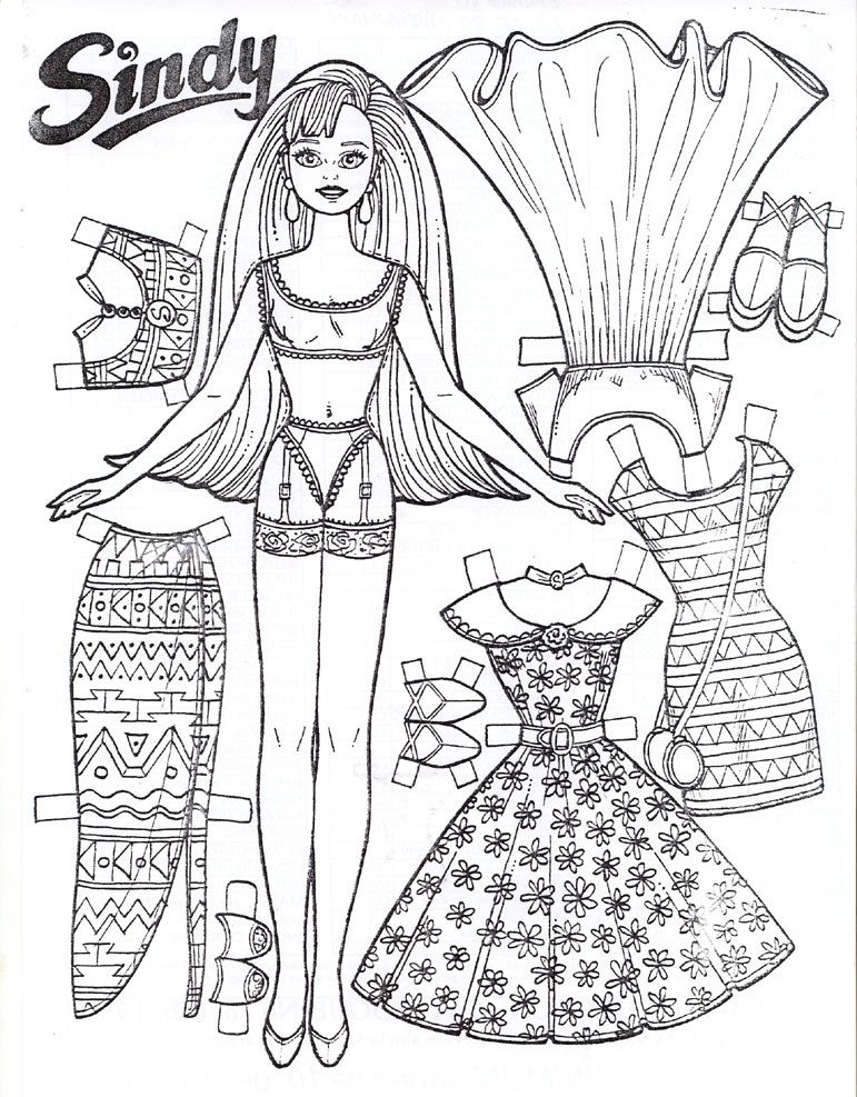 771x987 Free Printable Paper Doll Coloring Pages For Kids Printable