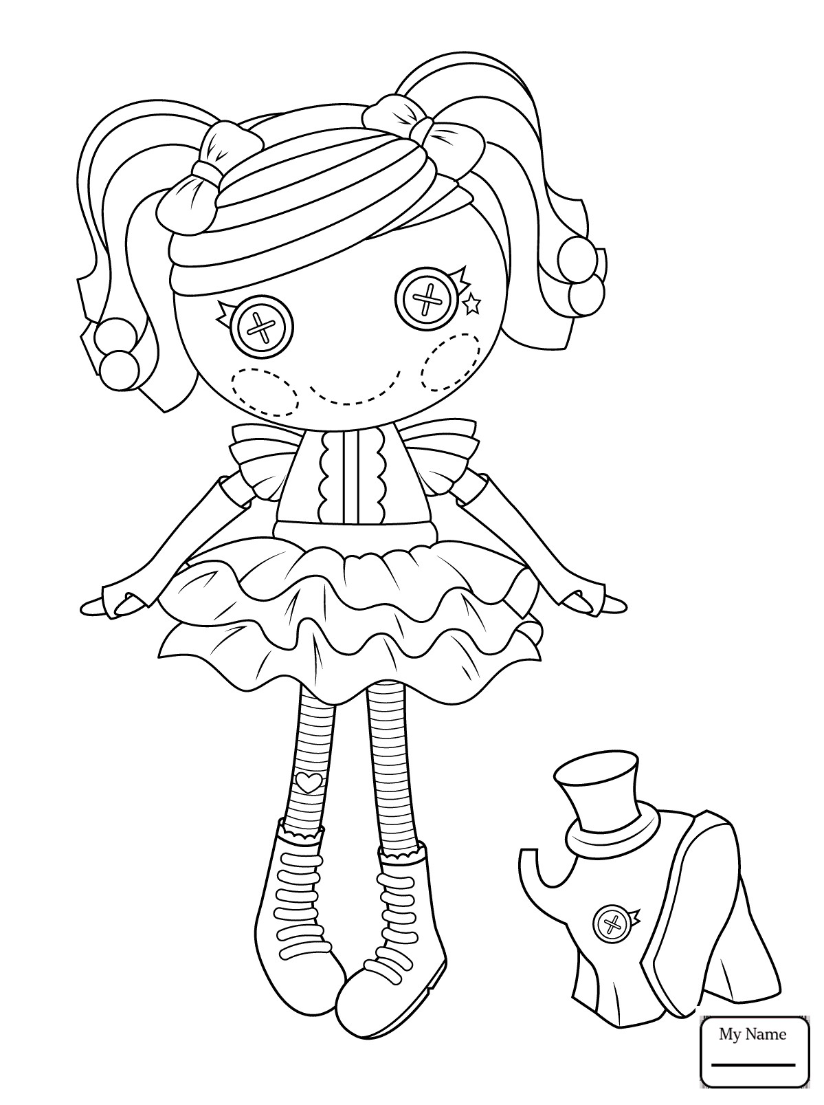 1199x1607 Lalaloopsy Doll Coloring Page For Kids Fresh Rag Dolls