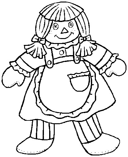 414x507 Printable Easter Coloring Page Rag Doll