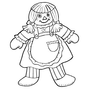300x300 Rag Doll Coloring Page