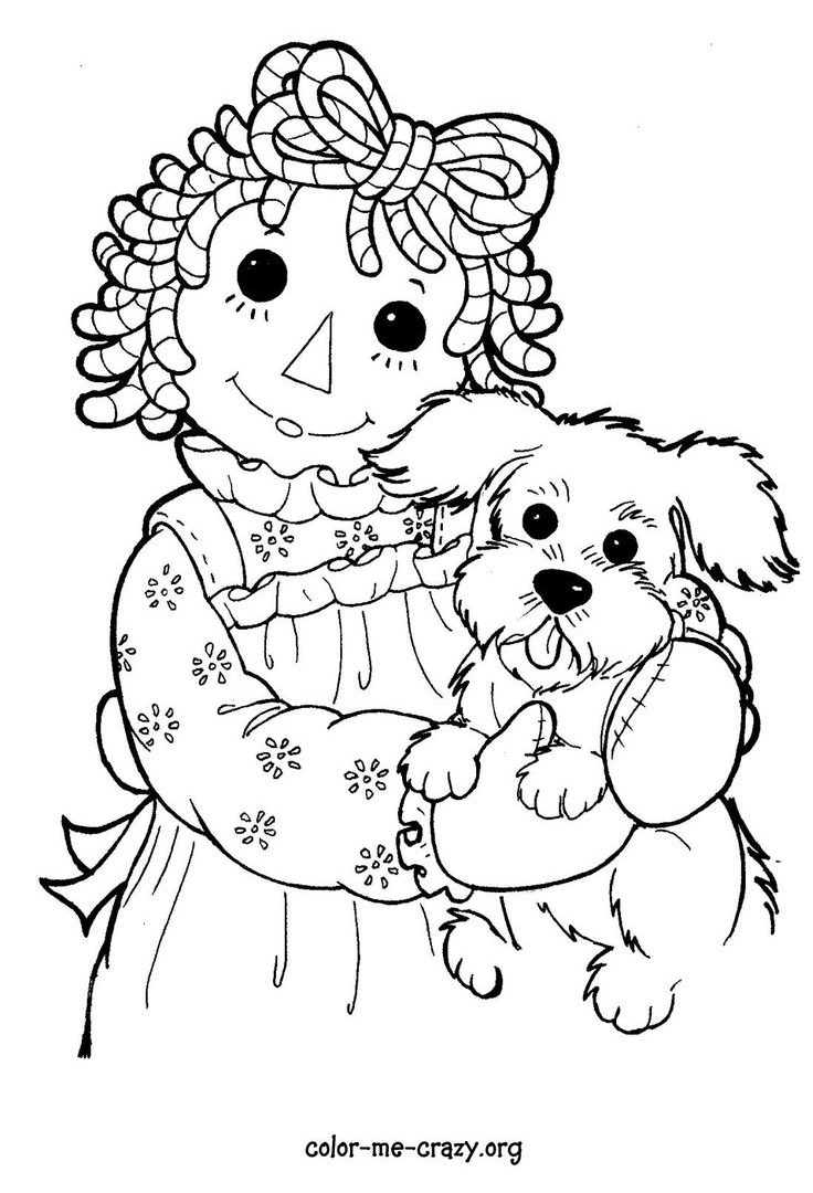 736x1080 Raggedy Ann Costume Coloring Pages For Kids General Sheet Free