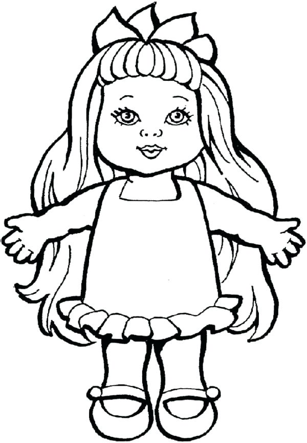 600x865 Doll Coloring Pages Murs
