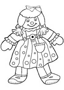 210x297 Doll Coloring Picture