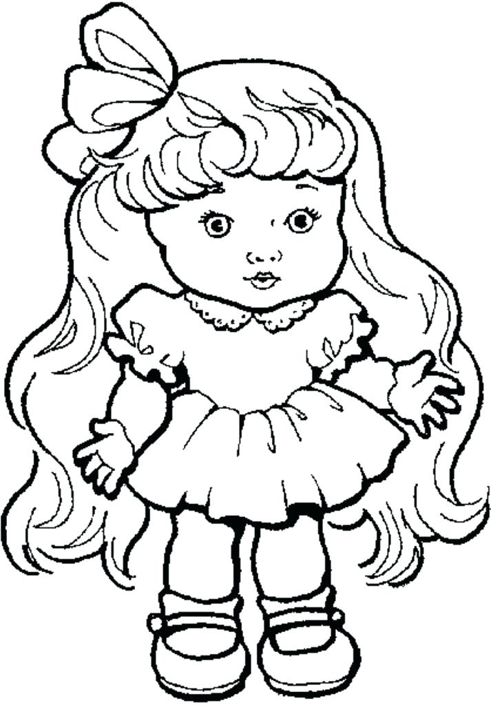 713x1024 Doll For Coloring Best Baby Doll Coloring Pages For Your Download
