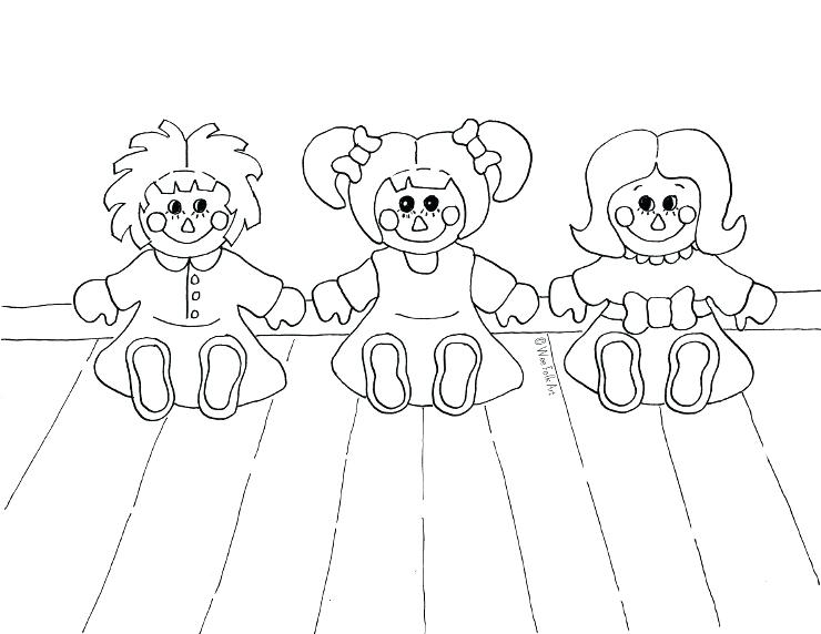 740x572 Doll For Coloring Rag Doll Friends Coloring Page Free Printable
