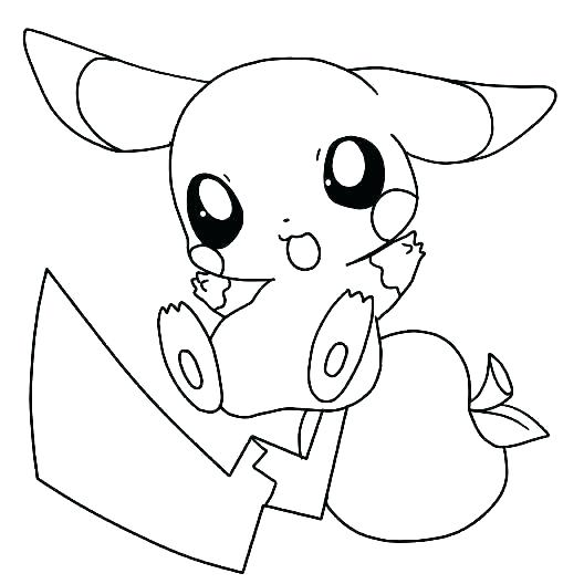 Raichu Coloring Page At Getdrawings Com Free For Personal Use