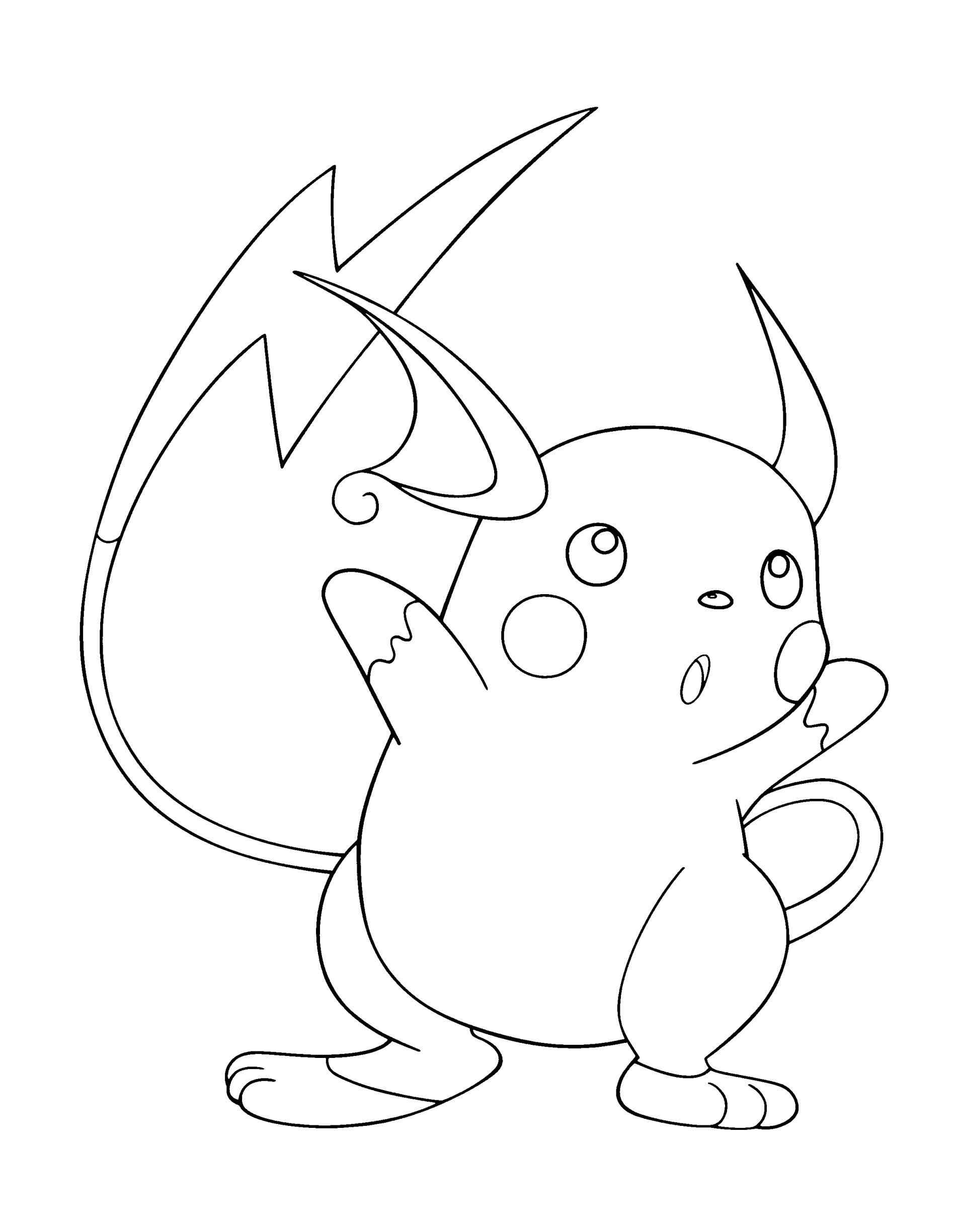 Raichu Pokemon Coloring Pages at GetDrawings.com | Free ...