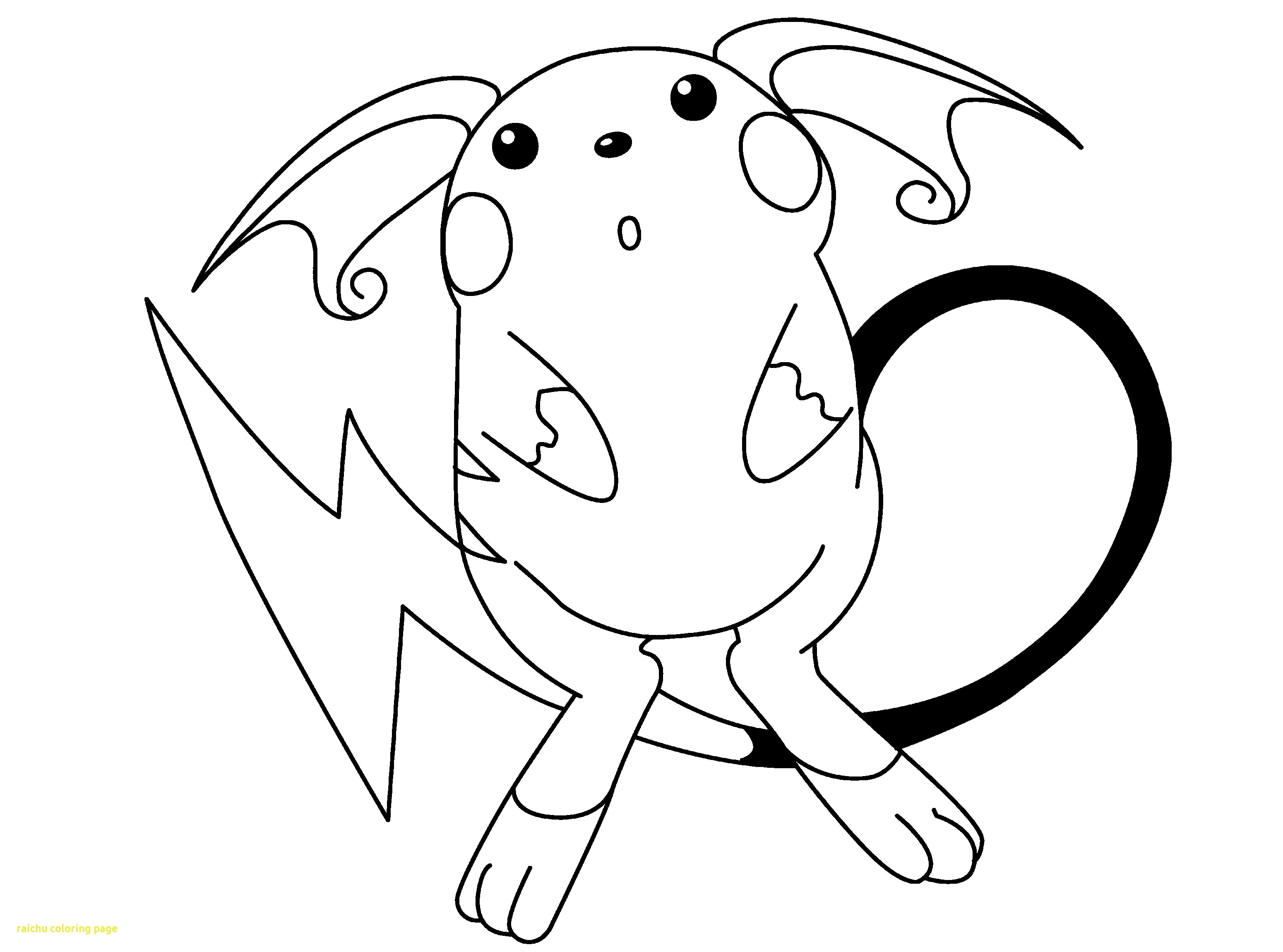 Raichu Pokemon Coloring Pages At Getdrawings Free Download
