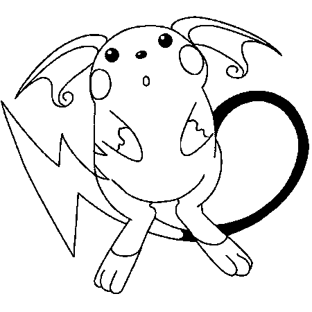 Raichu Pokemon Coloring Pages At Getdrawingscom Free For