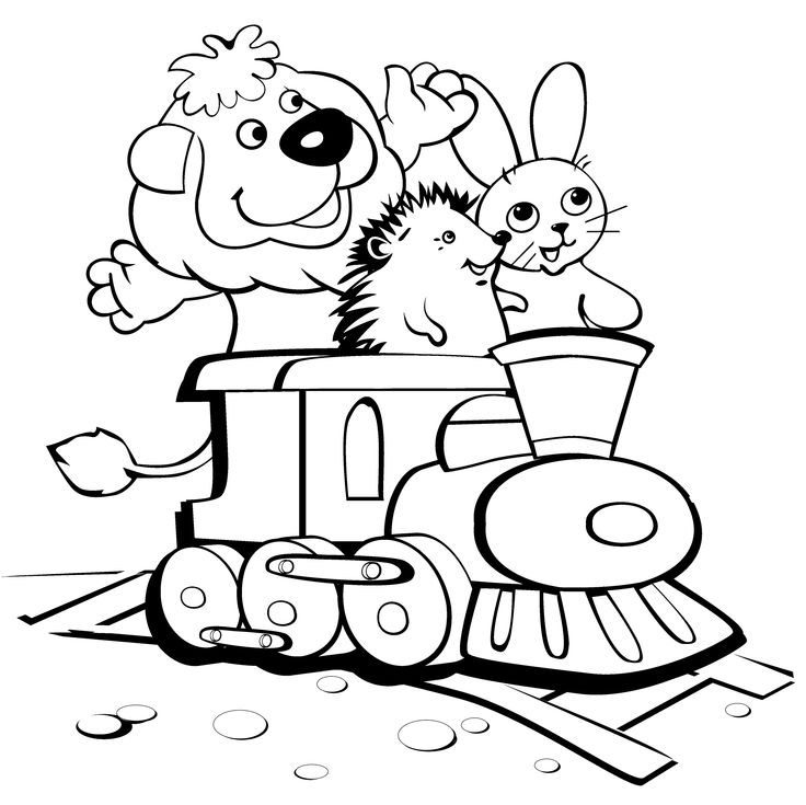 Railroad Coloring Pages