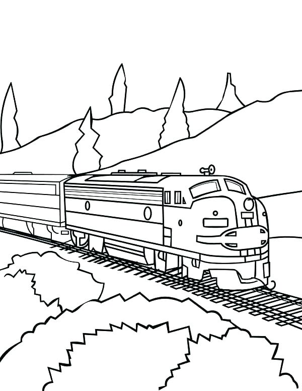 Railroad Coloring Pages at GetDrawings.com | Free for ...