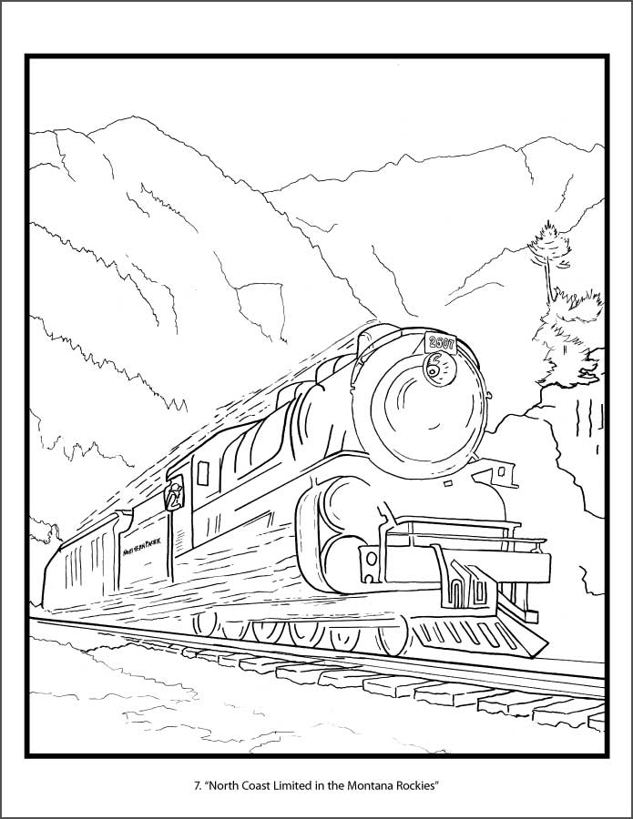 695x900 Railroad Posters Of America Coloring Book