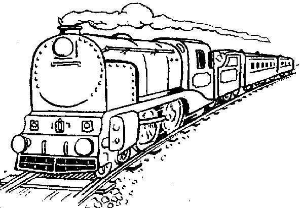 600x412 Train Coloring Pages At Free Coloring Pages Trains