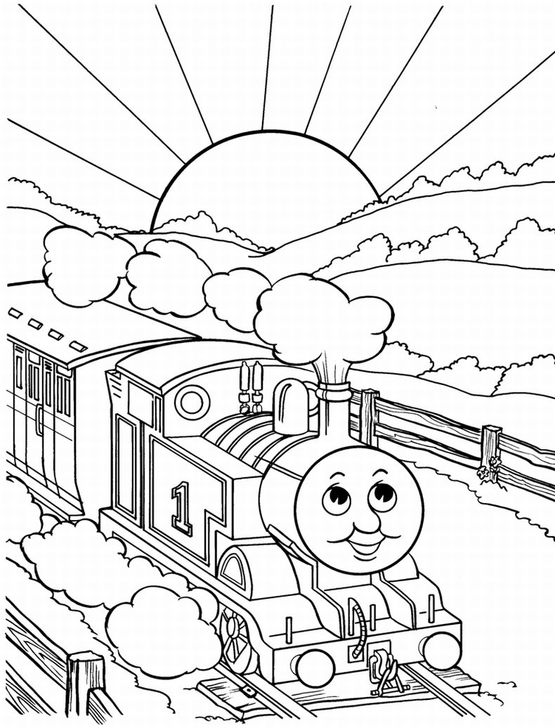 790x1036 Unconditional Pictures Of Trains To Color Thomas The Train