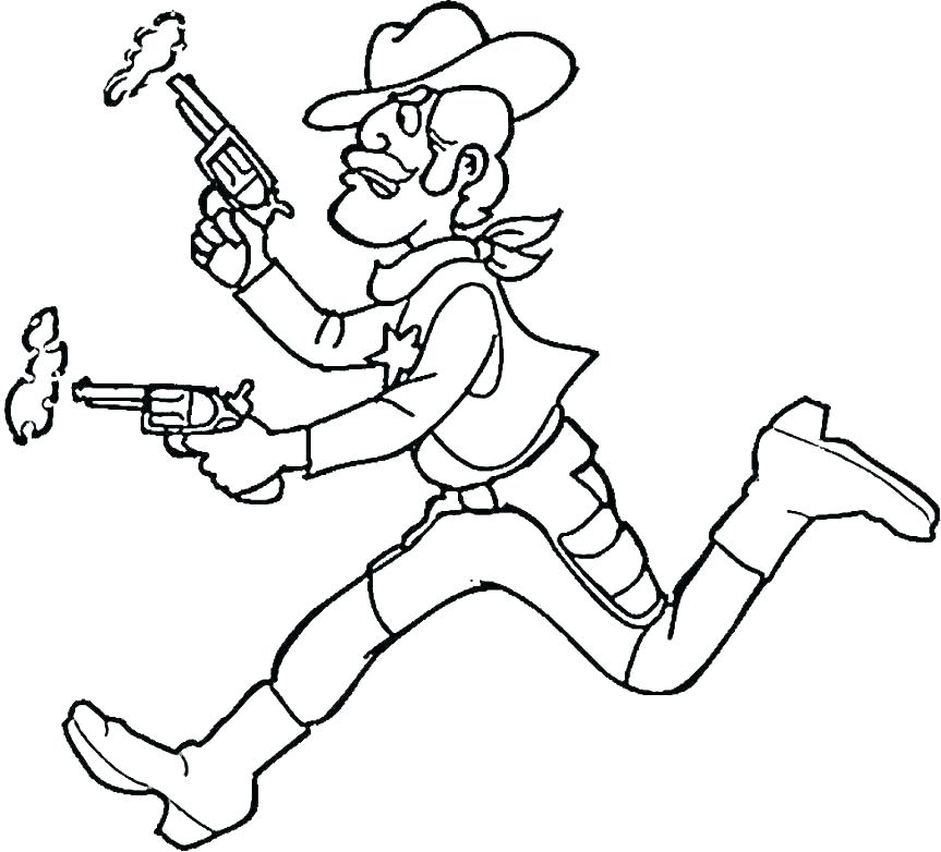863x782 Cowboy Boot Coloring Page Boots Coloring Pages To Print