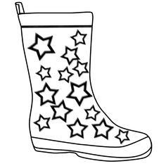 236x236 Rain Boots Coloring Page