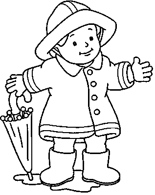 317x400 Rain Boots Coloring Page