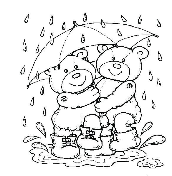 584x600 Rain Drop Coloring Page Rain Coloring Page Rain Coloring Page Rain