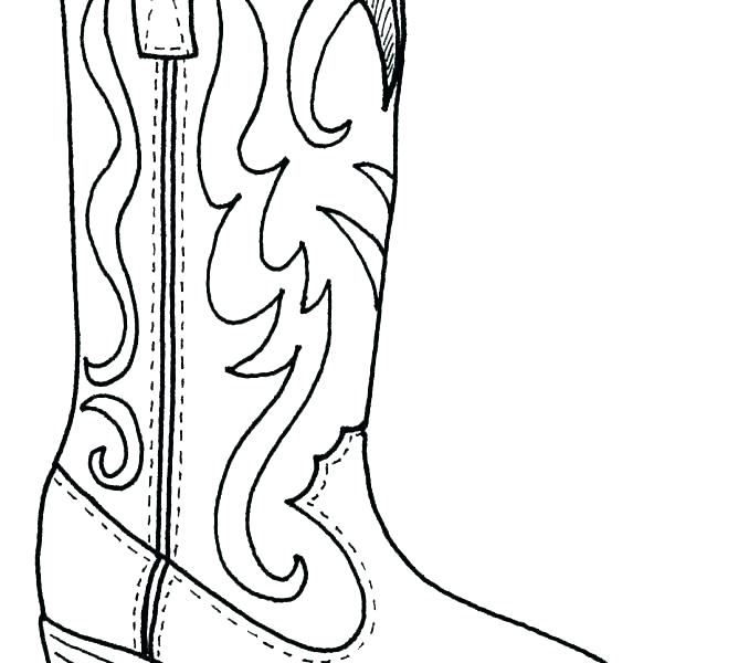 678x600 Boot Coloring Page Boots Colouring Pages Web Art Gallery