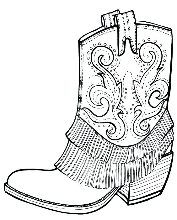 564x702 Boot Coloring Page Boot Coloring Page Pin Boots Coloring Page