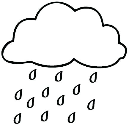 434x422 Rain Drop Coloring Page Drawing Cloud With Rain Drops To Paint
