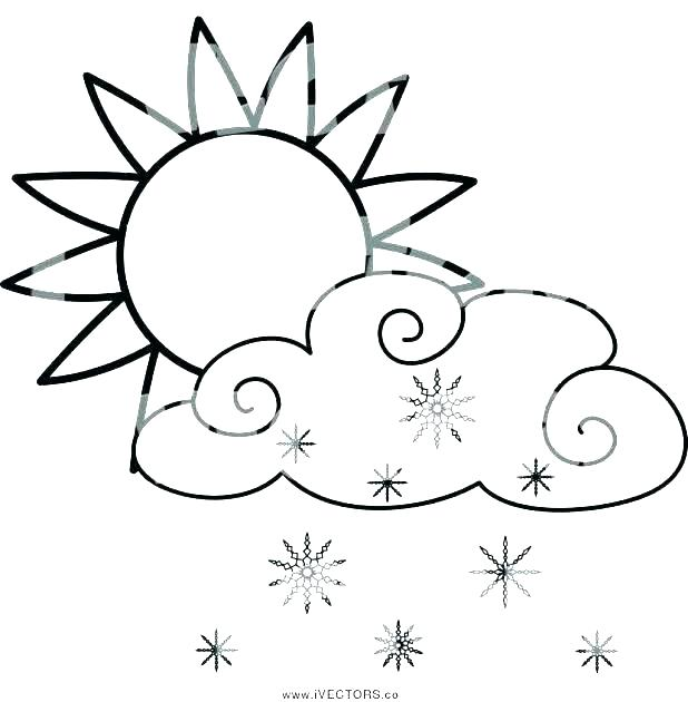 It's just a photo of Breathtaking Rain Cloud Coloring Page