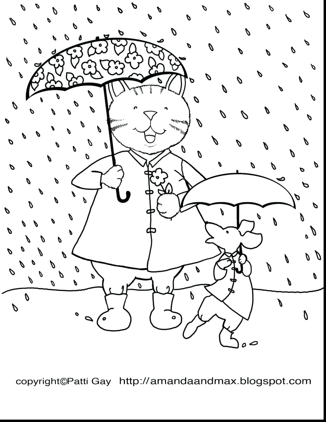 1359x1760 New Spring Rain Coloring Pages Best Of Rainy Spring Day Coloring