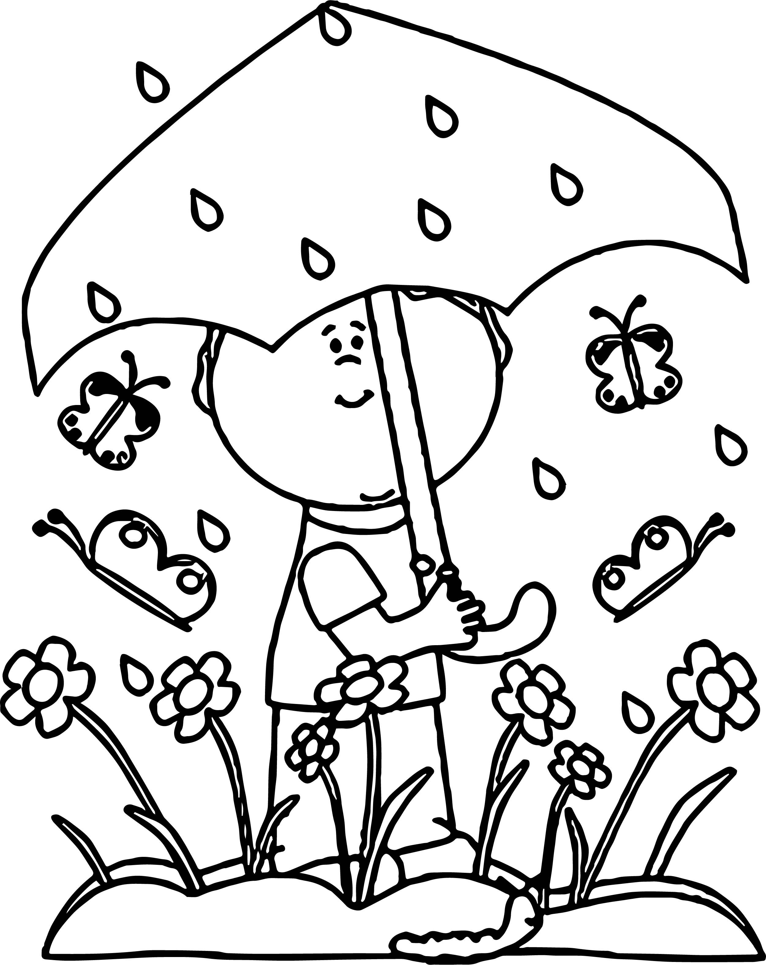 2503x3150 Rain Coloring Page Luxury Pages Umbrella Copy Spring Within