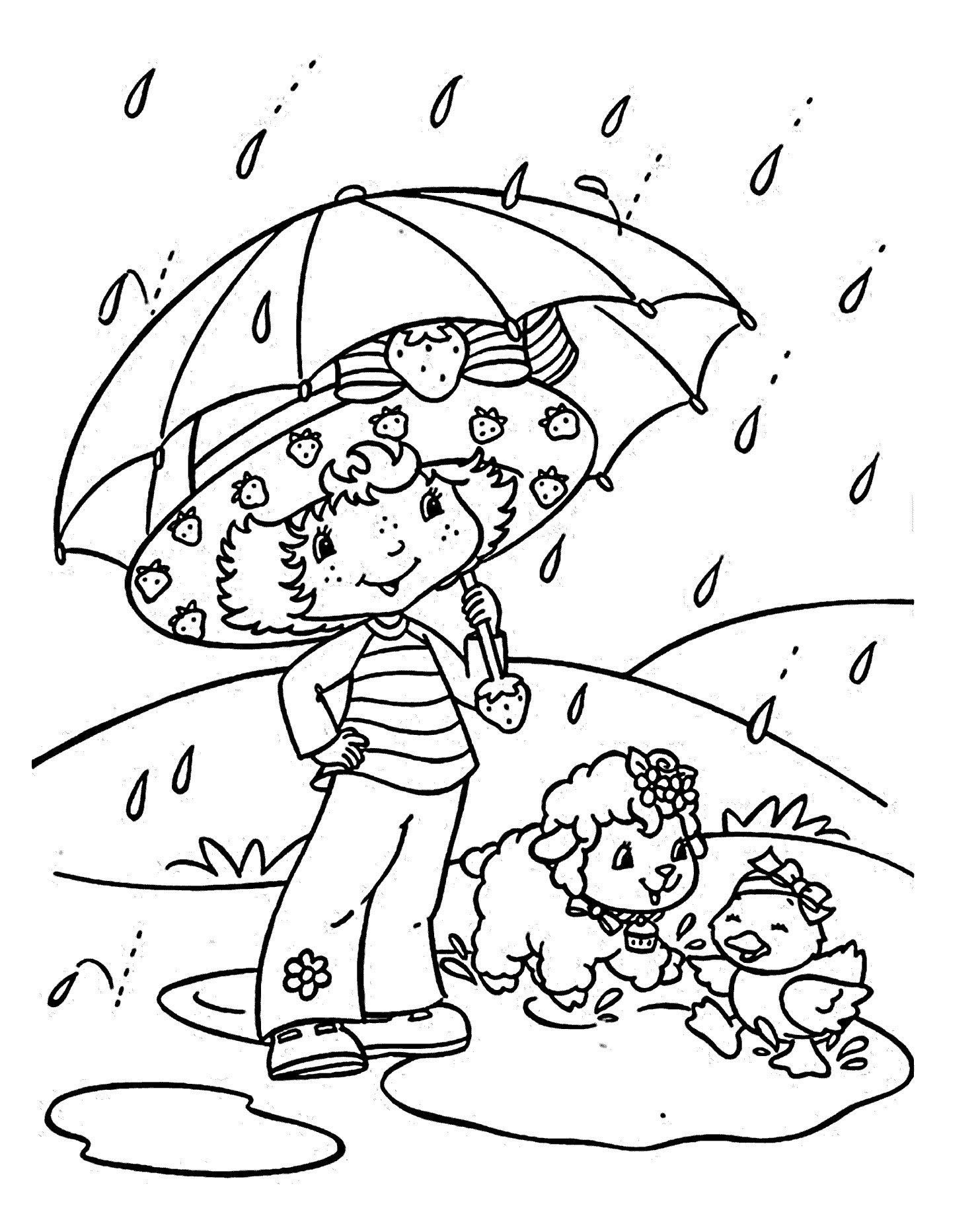 1483x1843 Awesome Coloring Pages Rain