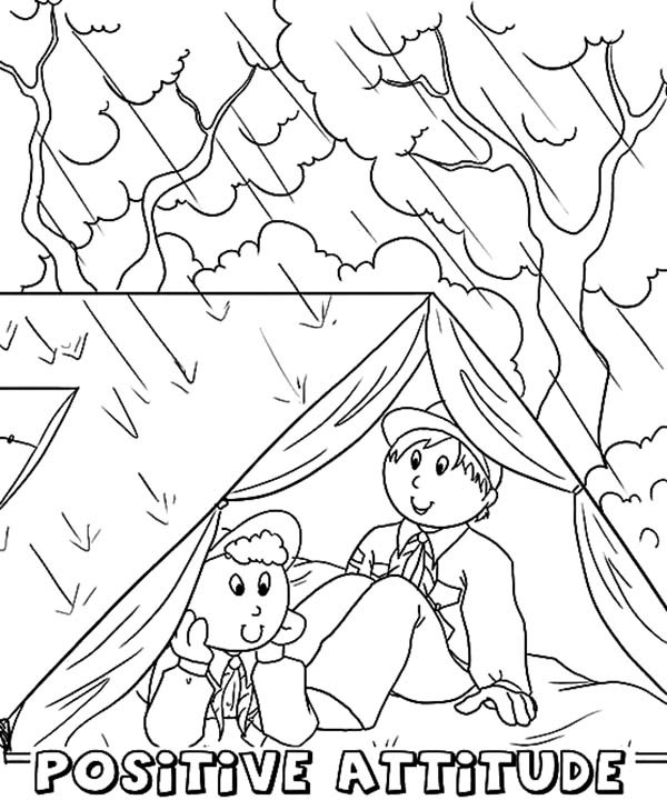600x729 Boy Scouts Hiding From Rain Coloring Pages Best Place To Color