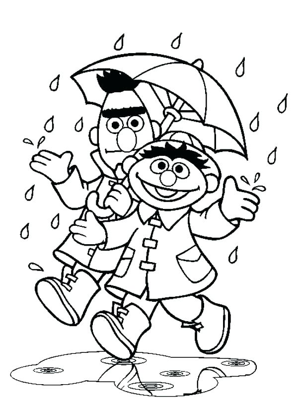 600x820 Weather Coloring Page Rain Coloring Sheet And Under Umbrella