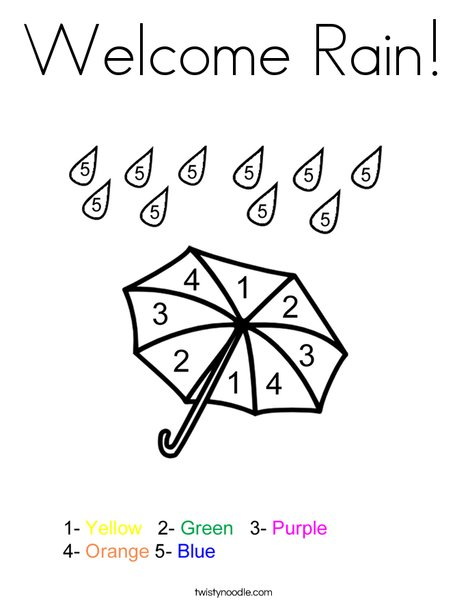 468x605 Welcome Rain Coloring Page