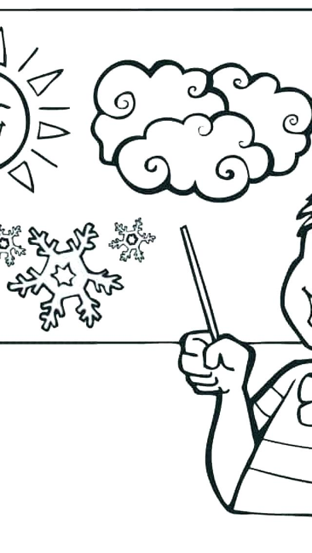 640x1136 Coloring Pages Weather Rain Coloring Page Weather Coloring Page