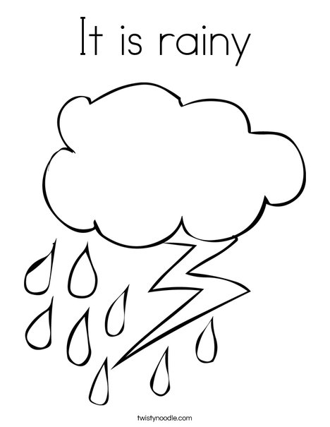 468x605 It Is Rainy Coloring Page