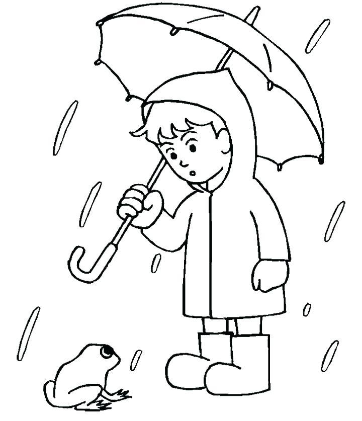 720x837 Rain Coloring Page Rain Coloring Page Coloring Page Rain Nature