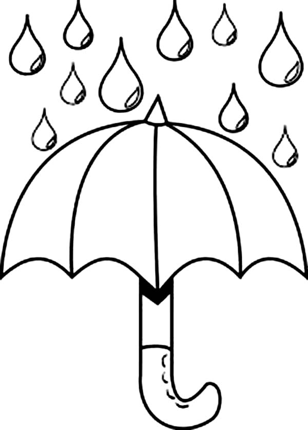 600x837 Nice Picture Of Raindrop And Umbrella Coloring Page Color Luna