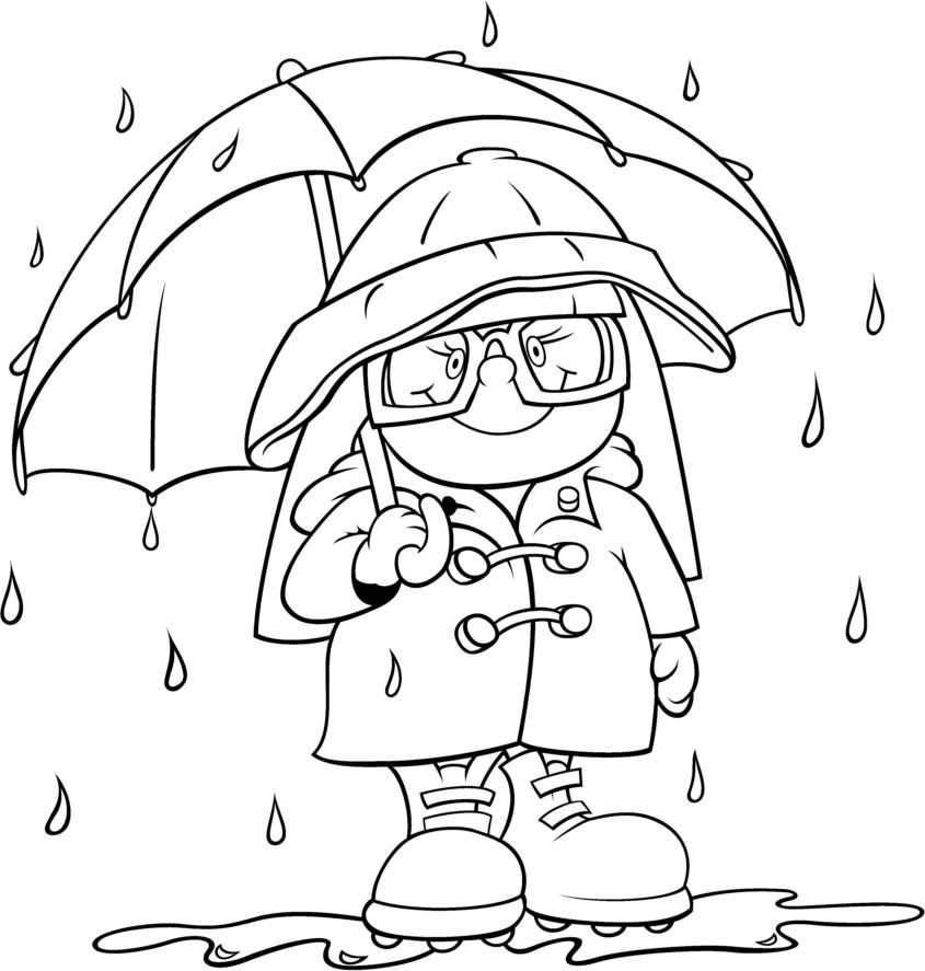 845x887 Rain Gear Coloring Page Weather And Seasons Activities